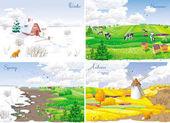 4 seasonal landscapes