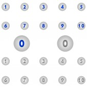 Number icons circle