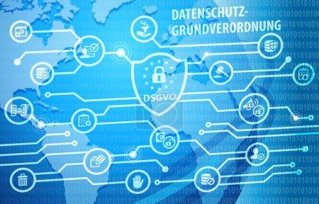 Photo pour Dsgvo données générales Protection règlement Notification fond - image libre de droit