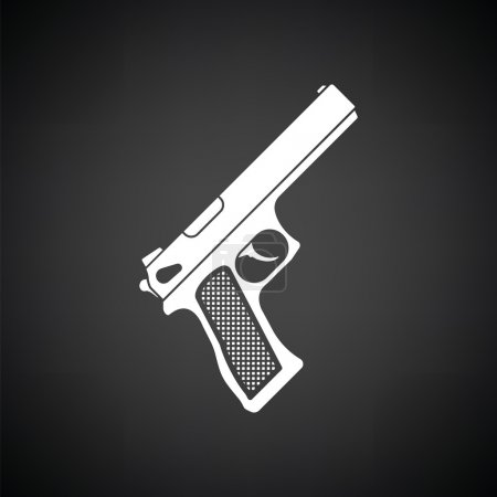 Gun icon  illustration.