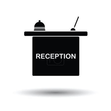 Hotel reception desk icon