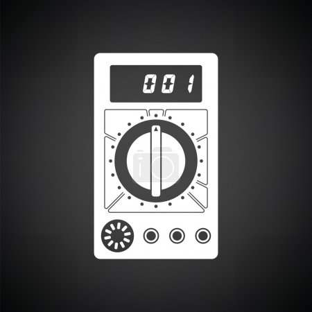 Black and white multimeter icon