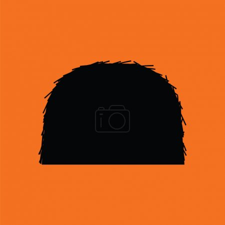 Illustration for Hay stack icon. Orange background with black. Vector illustration. - Royalty Free Image