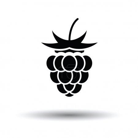 Illustration pour Icône framboise. Fond blanc avec design d'ombre. Illustration vectorielle. - image libre de droit