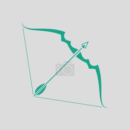 Illustration for Vector illustration design of Bow and arrow icon - Royalty Free Image