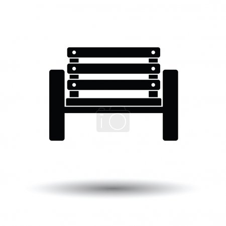 Tennis player bench icon