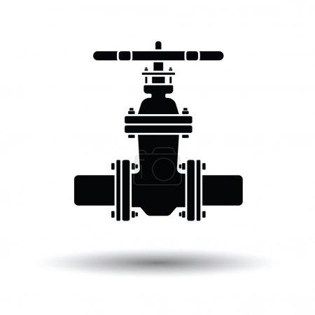 Pipe valve icon.