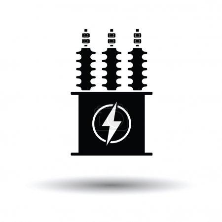 Electric transformer icon.