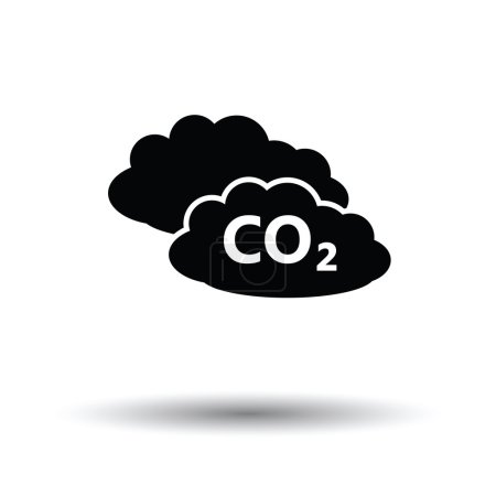 Illustration for CO 2 cloud icon.  Vector illustration. - Royalty Free Image