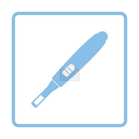 Illustration for Pregnancy test icon. Blue frame design. Vector illustration. - Royalty Free Image