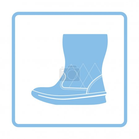 Woman fluffy boot icon