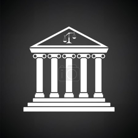 Courthouse icon illustration.