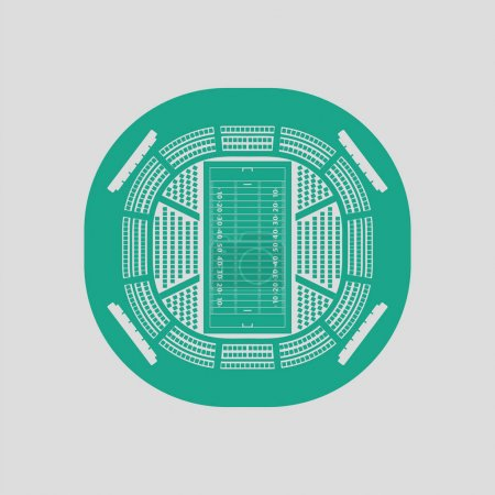 American football stadium bird's-eye view icon