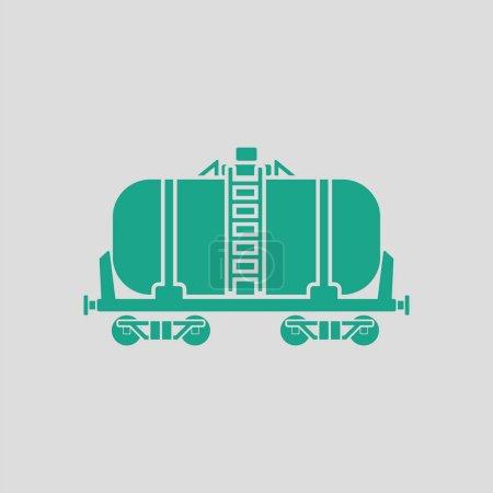 Oil railway tank icon