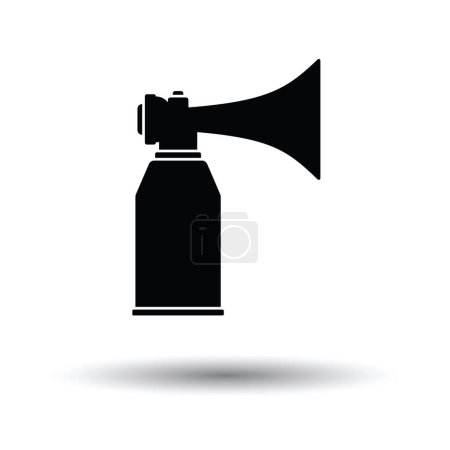 Illustration for Football fans air horn aerosol icon. White background with shadow design. Vector illustration. - Royalty Free Image