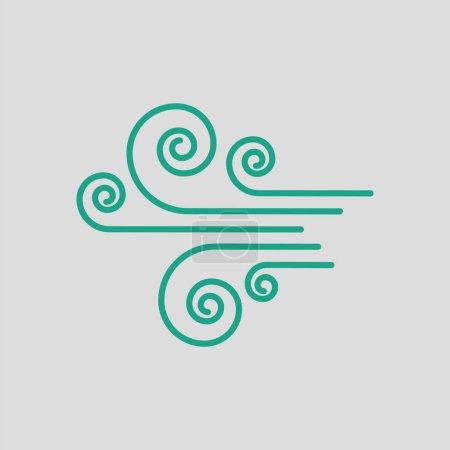 风图标说明vind ikon illustration