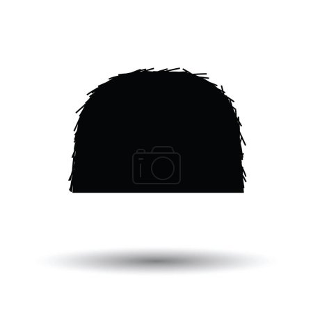Illustration for Hay stack icon. White background with shadow design. Vector illustration. - Royalty Free Image