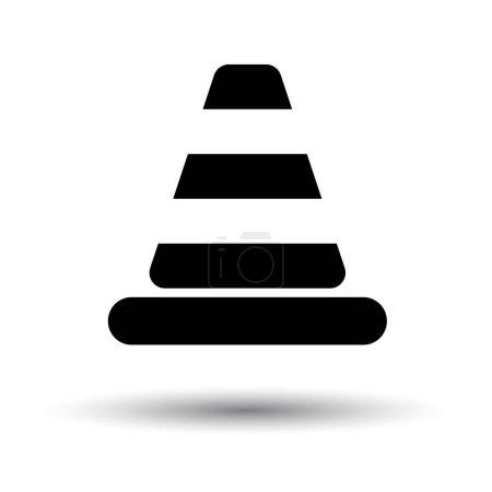 Flat design icon of Traffic cone