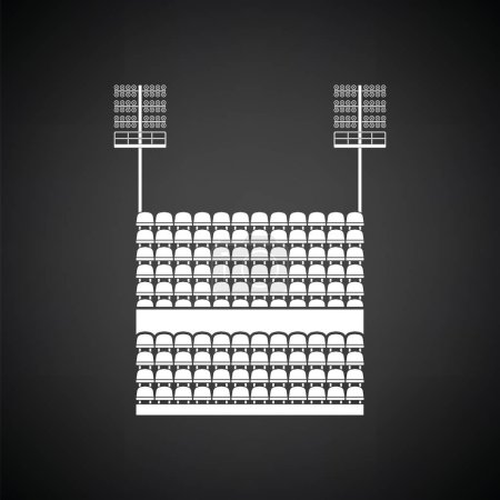 Stadium tribune with seats
