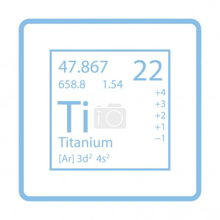Illustration for Icon of chemistry element.Vector illustration. - Royalty Free Image