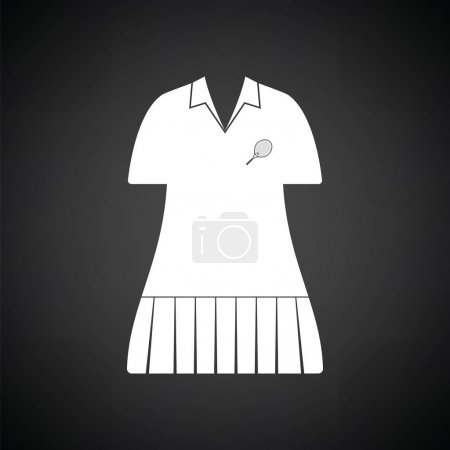 Tennis woman uniform icon