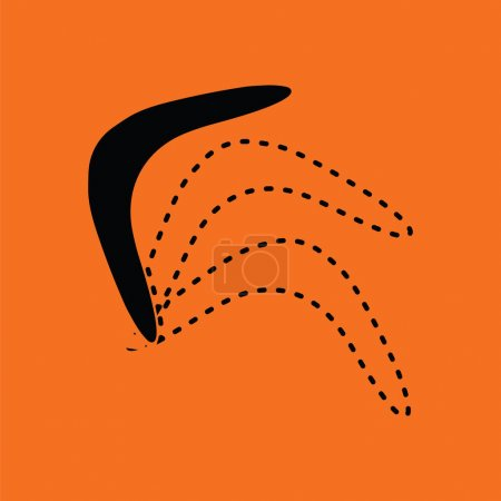 Boomerang  icon illustration.