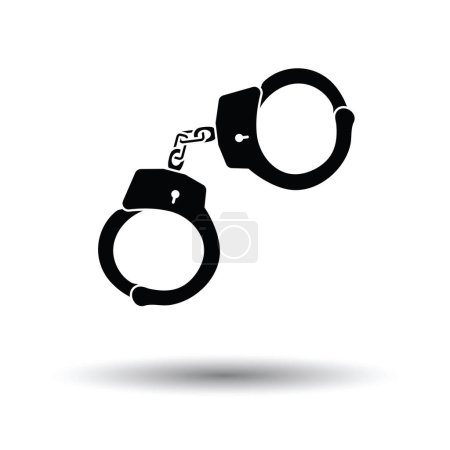 Police handcuff icon