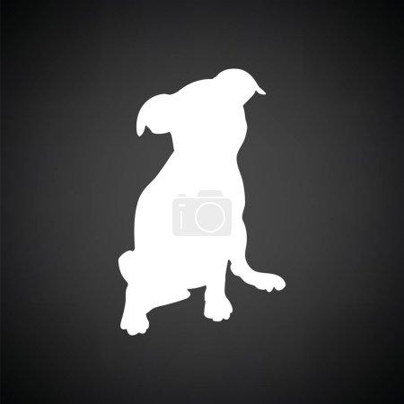 Puppy icon illustration.