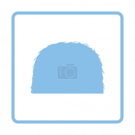 Illustration for Hay stack icon. Blue frame design. Vector illustration. - Royalty Free Image