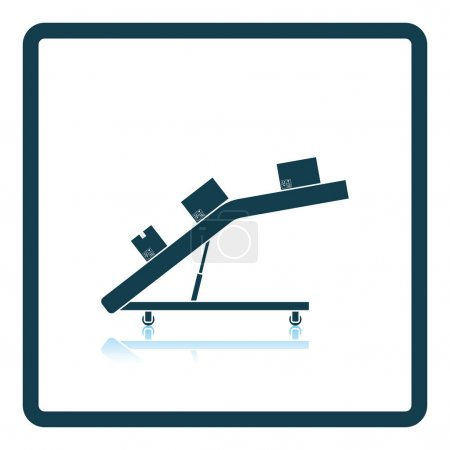 Warehouse transportation system icon