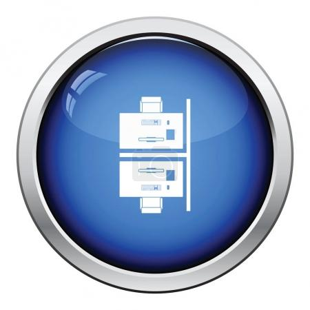 Office table top view icon