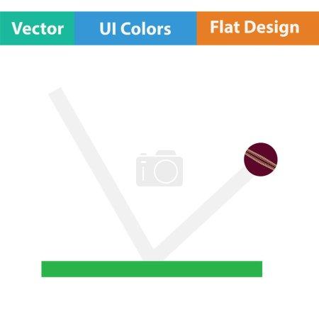 Cricket ball trajectory icon