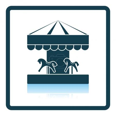 Illustration for Children horse carousel icon. Shadow reflection design. Vector illustration. - Royalty Free Image