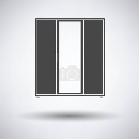 Wardrobe with mirror icon