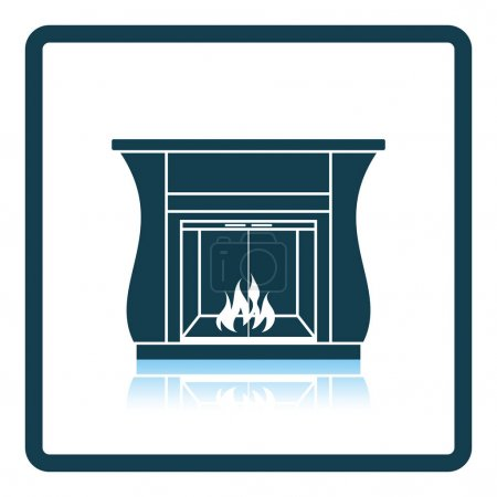 Fireplace with doors icon