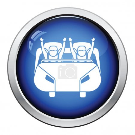 Roller coaster cart icon