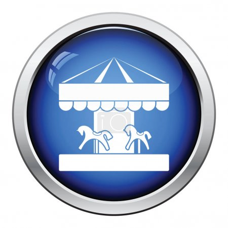 Children horse carousel icon