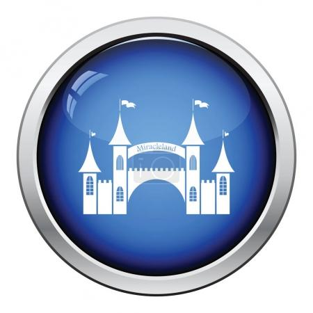 Amusement park entrance icon