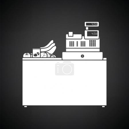 Supermarket store counter desk icon
