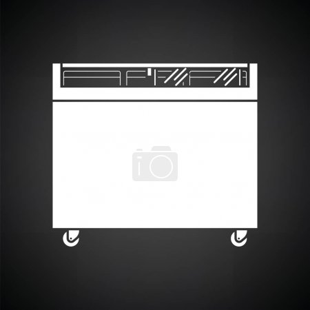 Supermarket mobile freezer icon