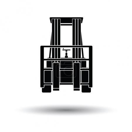 Warehouse forklift icon