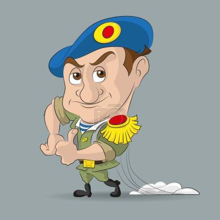 Soldier paratrooper cartoon
