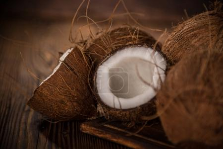 close up of a coconuts