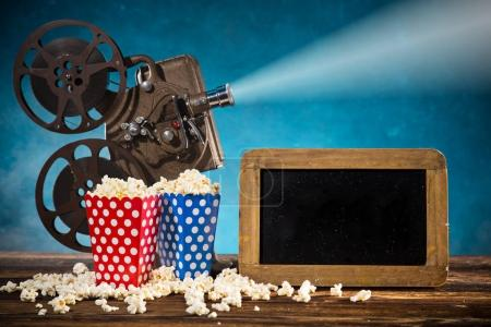 Photo for Old style movie projector, still-life, close-up. - Royalty Free Image