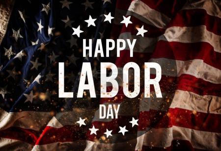 Fond de bannière et patriotique de fête du travail