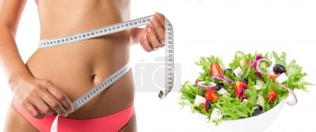 Photo for Woman with measure tape. Healthy lifestyle. - Royalty Free Image