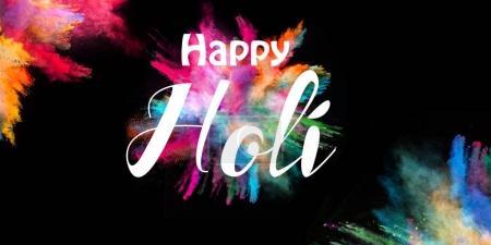 Foto de Colored powder explosion on black background. Happy Holi concept. - Imagen libre de derechos
