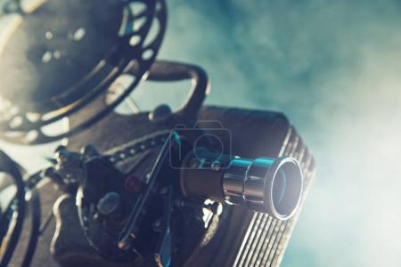 Projecteur de film sur style vieux, gros plan