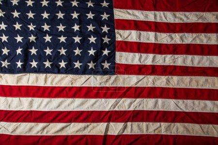 Old grunge flag of United States of America.