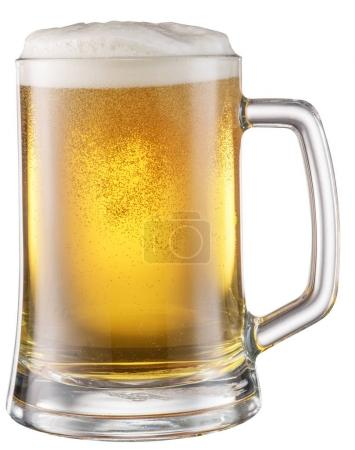 Steamy mug of beer. File contains clipping paths.